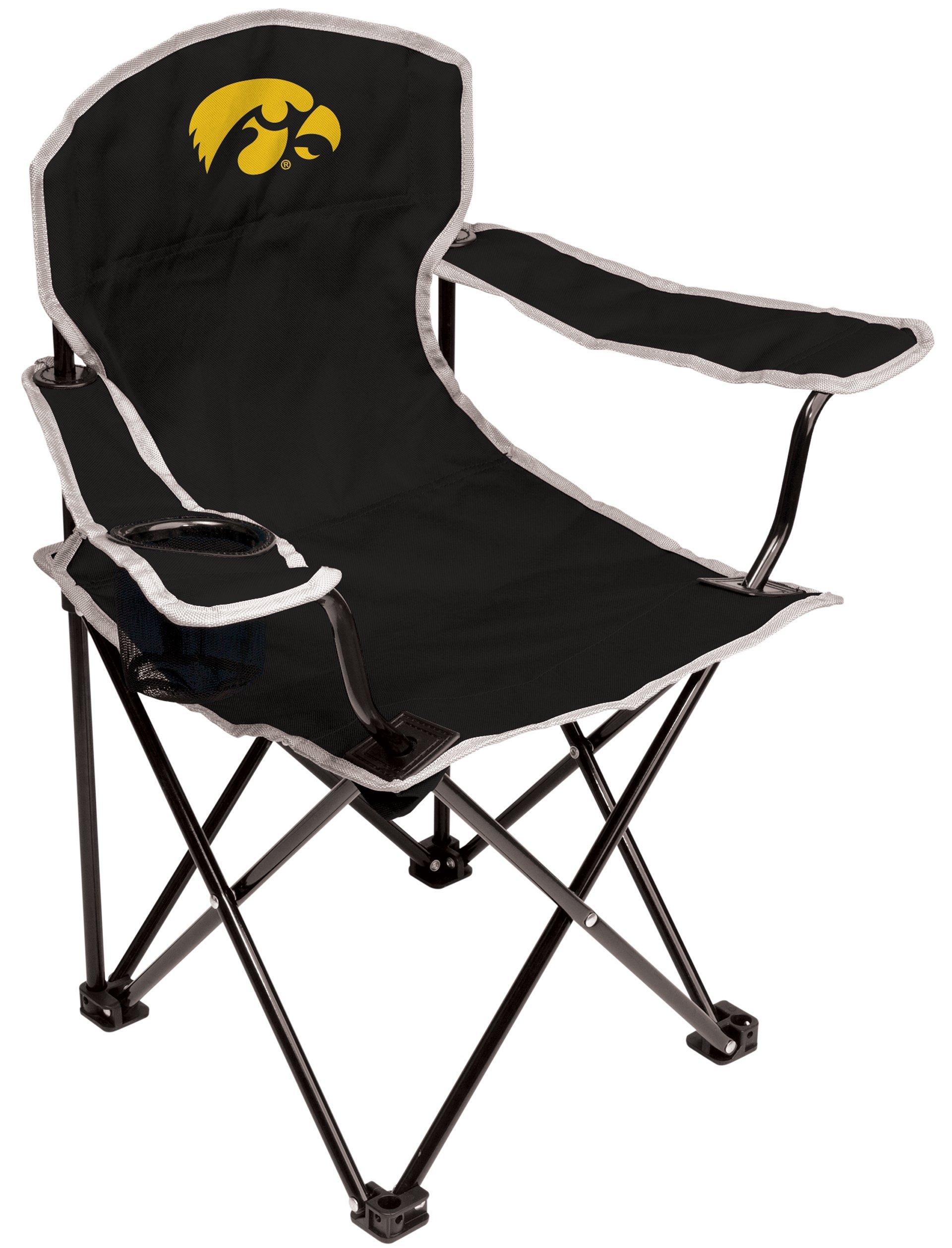 NCAA Iowa Hawkeyes Youth Folding Chair, Black