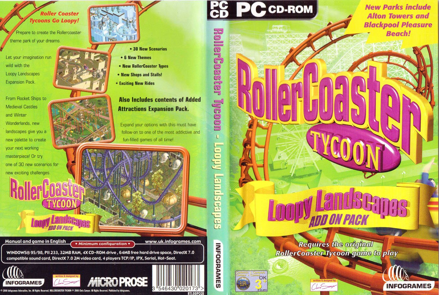 Roller Coaster Tycoon - Loopy Landscapes Add-On Pack (PC