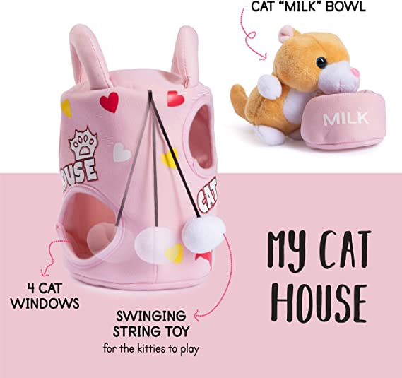 child friendly CYLE /& CAYLEY CATS handmade stuffed plush cats whimsical cats decoration