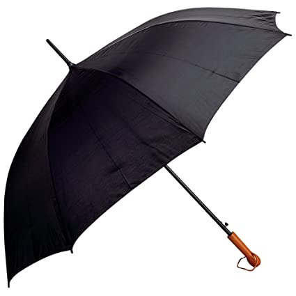 2d8d876e4 Amazon.com : All-Weather Elite Series 60 inch Black Auto Open Golf Umbrella  : Sports & Outdoors