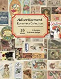 Advertisement Ephemera Collection: 18 sheets - over 150 vintage colored Advertisements for DIY cards and journals (Vintage Ephemera Collection)
