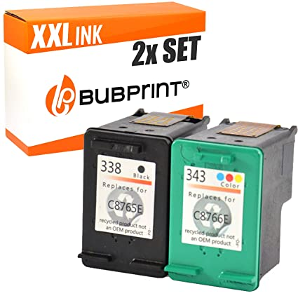 bubprint Cartuchos de impresora compatibles para HP 343+338 color ...