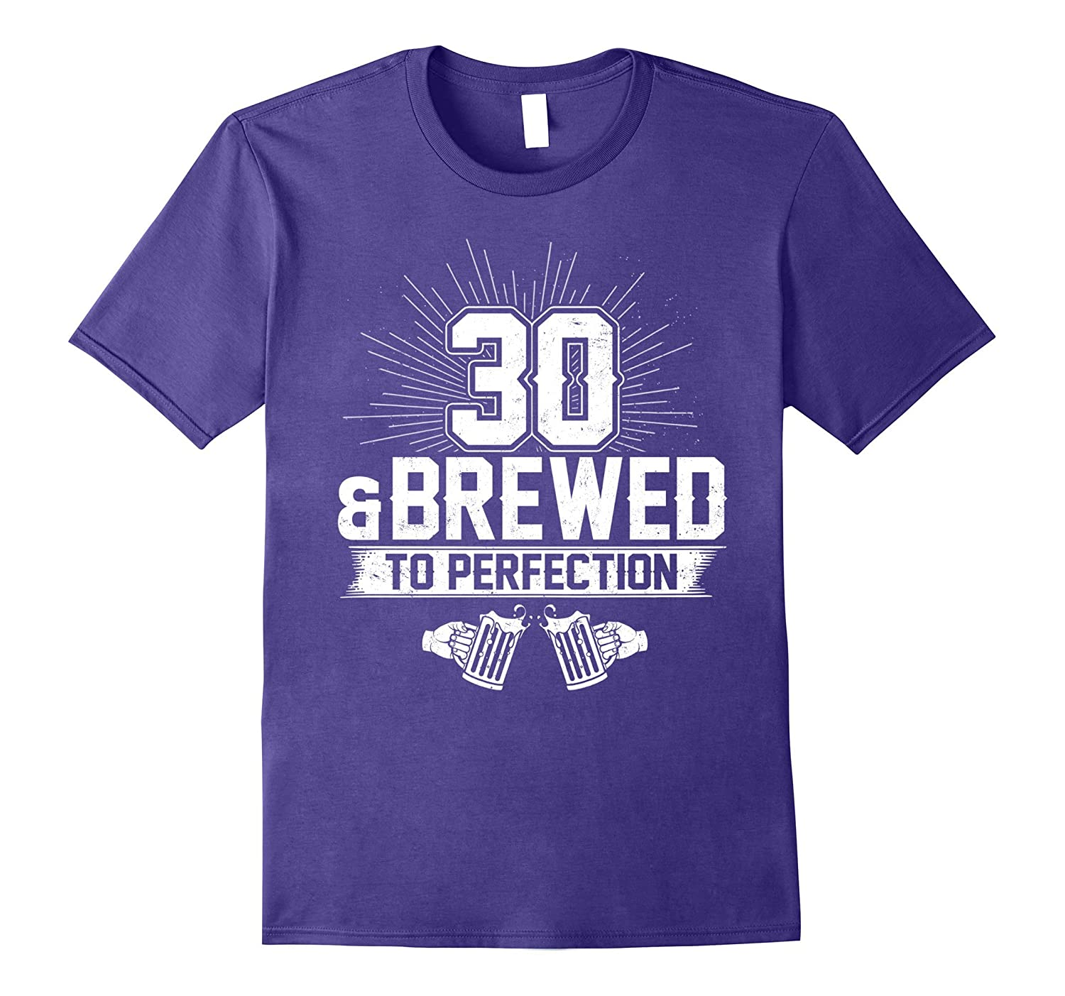 30 And Brewed To Perfection T-shirt-Art