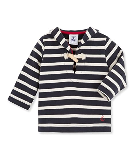 Amazon.com  Petit Bateau Baby Boys  Striped Sailor Collar Top (Baby)   Clothing 958c30703b0