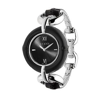 8da081ae1c5 Amazon.com: Gucci Bamboo Iconic Black Women's Watch(Model:YA132405 ...