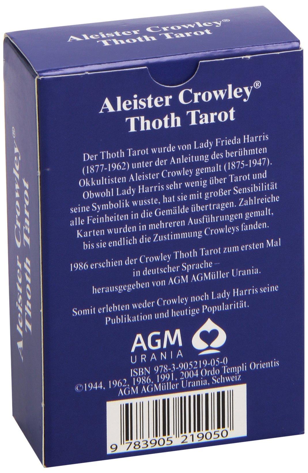 Amazonfr Tarotkarten Original Aleister Crowley Thoth Tarot