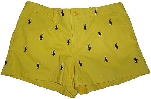 Polo Ralph Lauren Sport Womens All Over Pony Shorts Yellow, 10 | Amazon.com