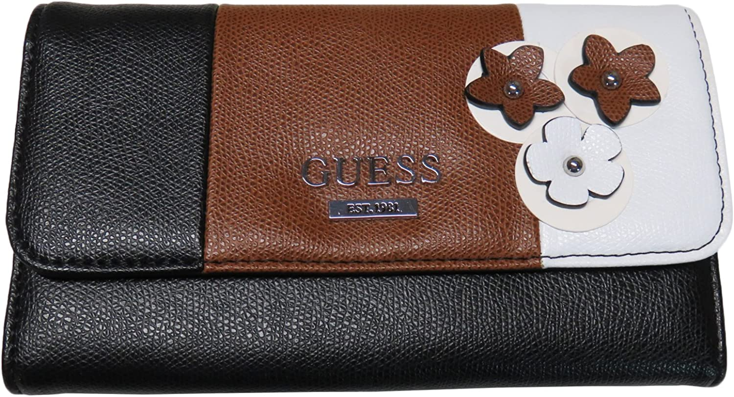 Guess Women's Wallet Banberry Slg Black Multi