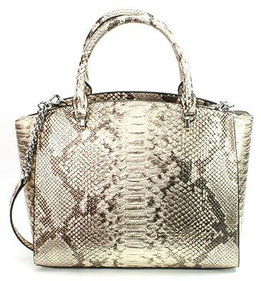 77660c114d16 Amazon.com  MICHAEL Michael Kors Women s ELLIS LARGE Satchel Leather handbag   Shoes