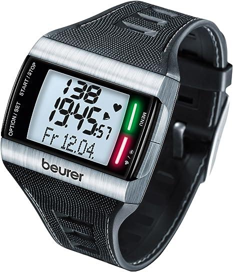 Beurer PM62 - Pulsómetro con fijación para Bicicleta, Calendario, conexión PC, Color Negro: Amazon.es: Deportes y aire libre