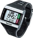 Beurer Connect PM 62 Cardiofrequenzimetro con Involucro in Acciaio Inossidabile, LED Bicolore, Nero