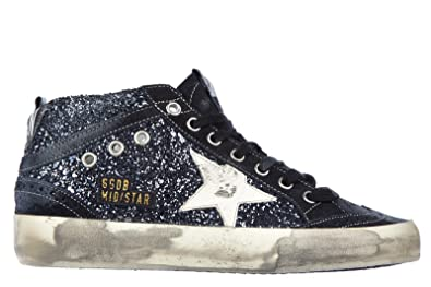 a5ef17a6f Golden Goose Women's Shoes high top Leather Trainers Sneakers mid Star  Glitter blu UK Size 4