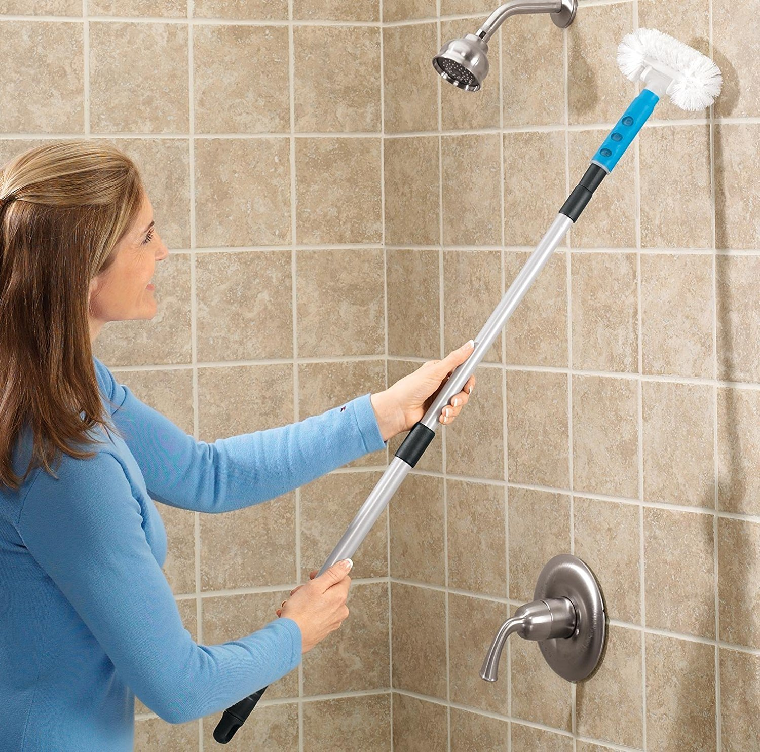 Amazoncom Telescopic Tub Tile Scrubber Cleaning Brushes