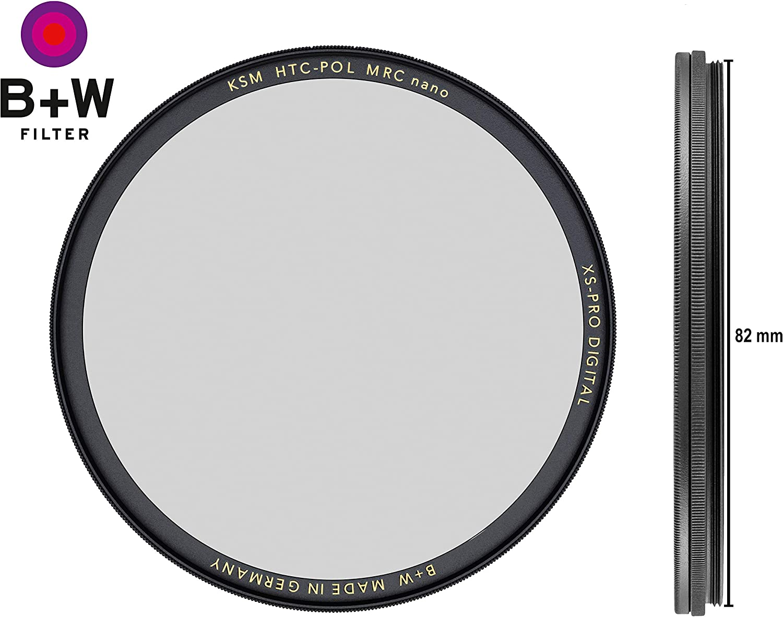 Photography Filter W Circular Polarizer Kaesemann B HTC Xtra Slim Mount XS-PRO 86 mm 16 Layers Multi-Resistant and Nano Coating