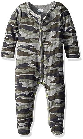 41cdcd5383 Amazon.com  Mud Pie Baby Boys Camo Long Sleeve Footed Sleeper  Clothing