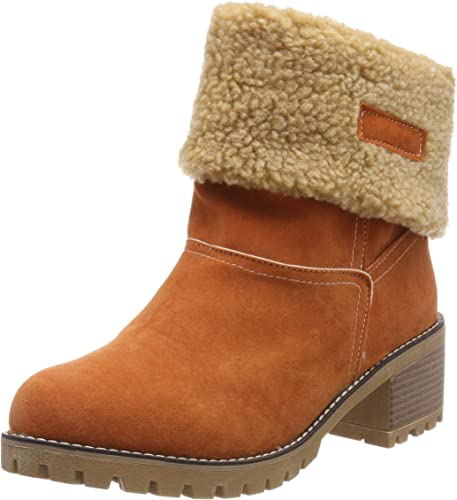 Vuticly Womens Winter Snow Boots Round