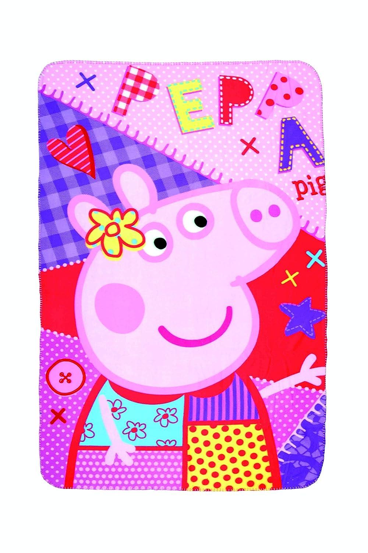 Peppa Pig Kids, coperta in pile 150x 100cm morbida coperta, coperta termica Peppa Pigs