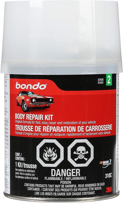 Bondo Body Repair Kit, Original Formula for Fast, Easy Repair & Restoration of Your Vehicle, 1 Kit: Garden & Outdoor