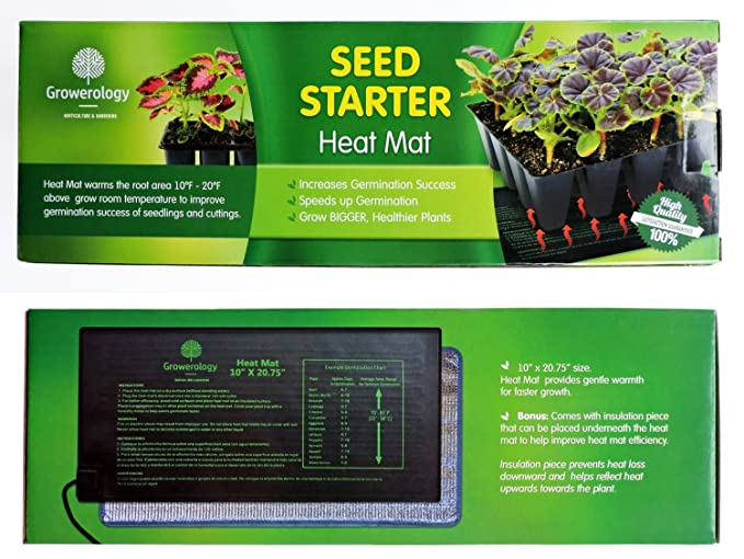 Amazon.com : Growerology Seedling Heat Mat (2 Pack: 10