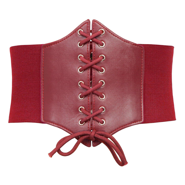 Ladies Medieval Stretchy Cinch Belt Vintage Waistband(Black, L 499) GRACE KARIN