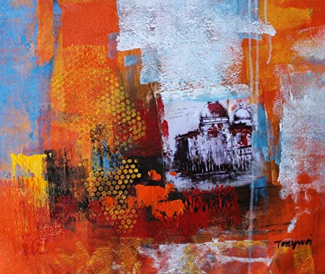 Amazon Com Pdecor 20x24 Inches Original Abstract Painting