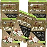 Itsumo Wild Ahi Tuna in Extra Virgin Coconut Oil (5 Packs) - Premium Yellowfin Tuna Fish - Healthy Natural Ingredients - Paleo & Gluten Free Protein Packet