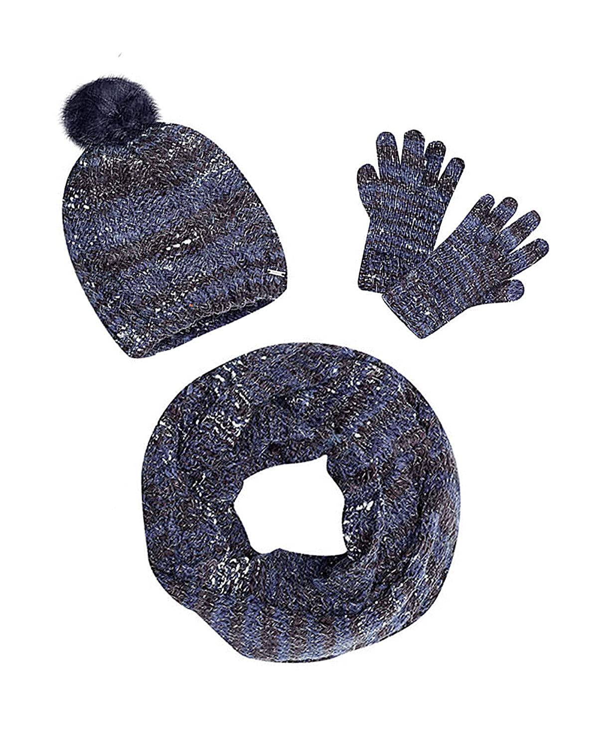 Mayoral Junior Girl's Navy Hat, Scarf and Gloves Set, Sizes 8-18 Sizes 8-18 - S