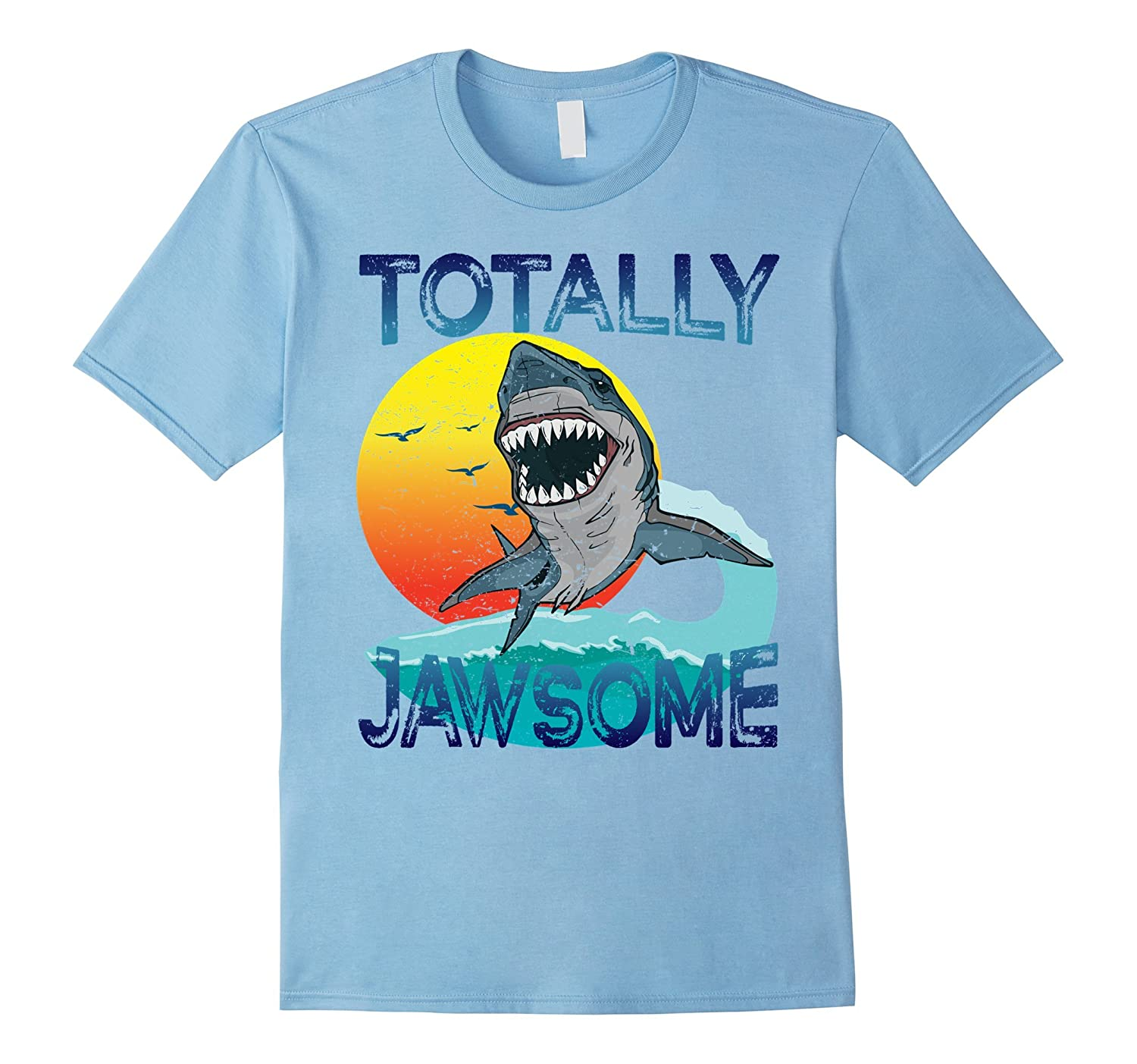 Totally Jawsome Cool Shark T-shirt for Men Women and Kids-CD