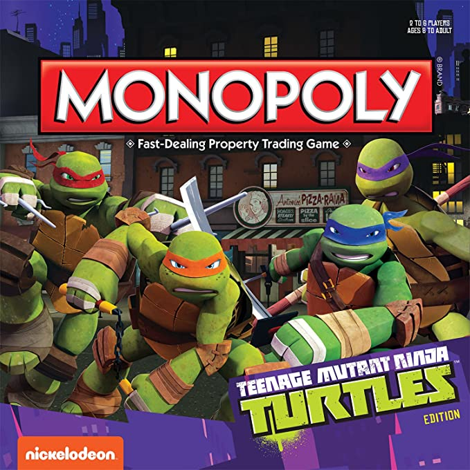 Amazon.com: Monopoly: Teenage Mutant Ninja Turtles Edition ...