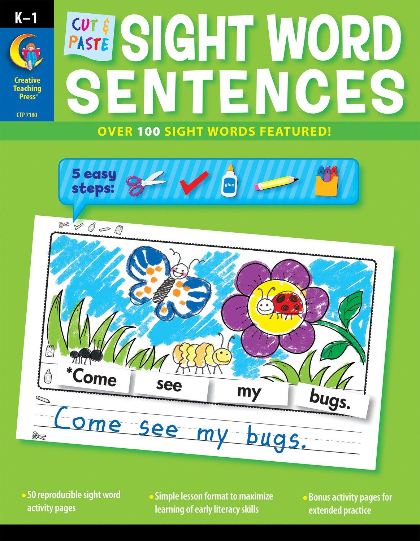 Cut & Paste Sight Words Sentences (CTP 7180): Rozanne Lanczak ...