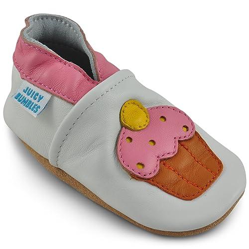 Zapatos Bebe Niña - Zapatillas Bebe de Cuero Primeros Pasos - Cupcake 6-12 Meses: Amazon.es: Zapatos y complementos