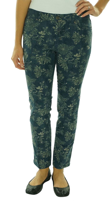 Ralph Lauren Women's LRL Jeans Co Modern Straight Ankle Floral Stretch Jeans Pants