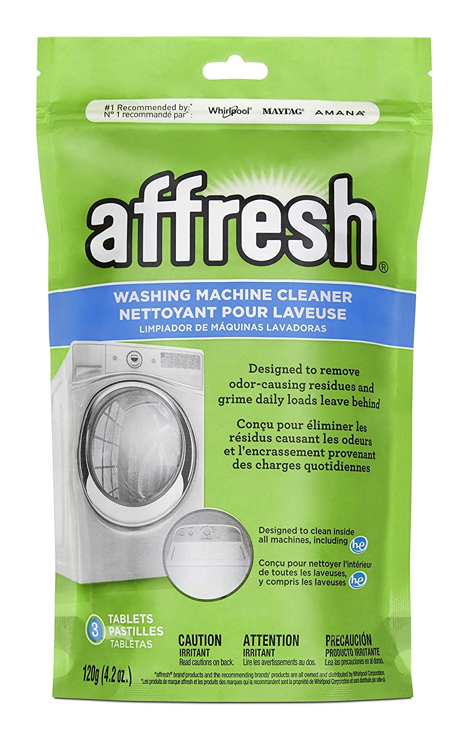 Amazon.com: Whirlpool - Affresh High Efficiency Washer Cleaner, 3 ...