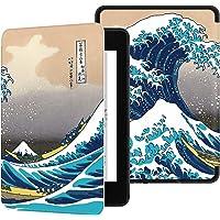 Ayotu Funda de Piel para Kindle Paperwhite-Funda Impermeable bellamente Pintada para Despertar/Dormir automáticamente(sólo Sirve para Kindle Paperwhite 10ª Generaciones-Modelo 2018),Surf en Kanagawa