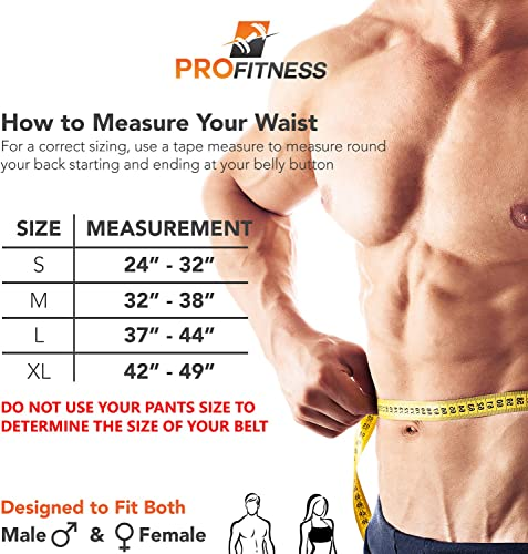ProFitness Genuine Leather Workout Belt 4 Inches Wide – Proper Weight Lifting Form – Lower Back Support for Squats, Deadlifts, Cross Training