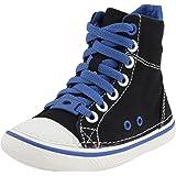 Crocs Kids Hover Sneak Hi Top Black/Sea Blue, Retro styled classic sneaker with canvas upper