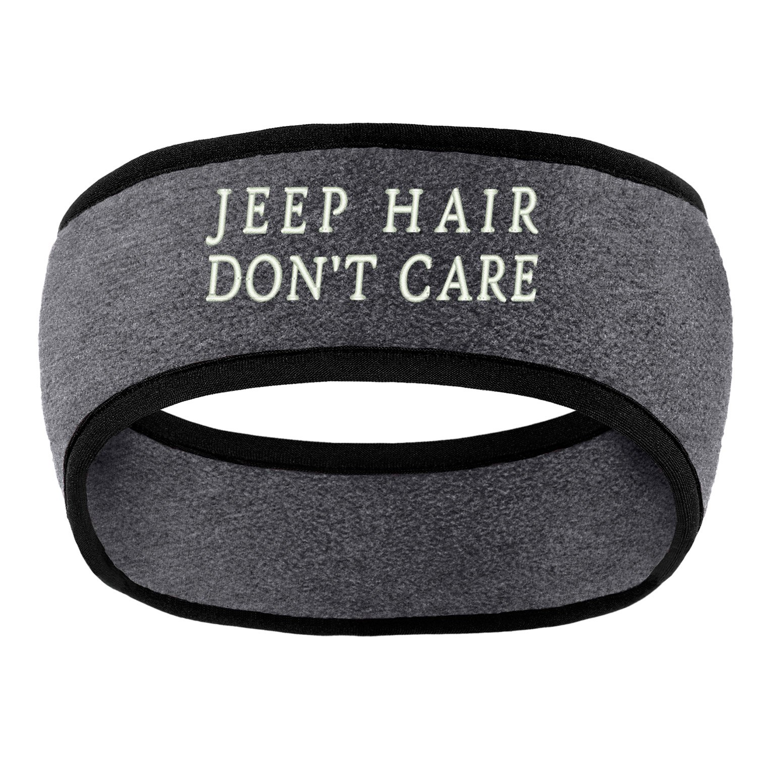 Trendy Apparel Shop Hair Don't Care Embroidered Soft Sweat Head Band