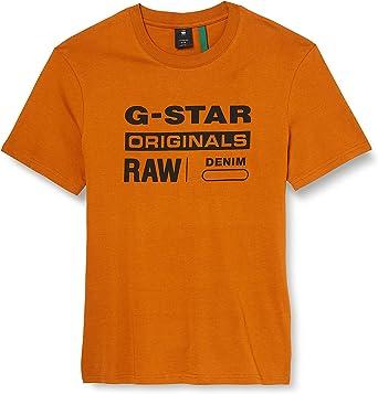 G-STAR RAW Graphic 8 Round Neck Camiseta para Hombre