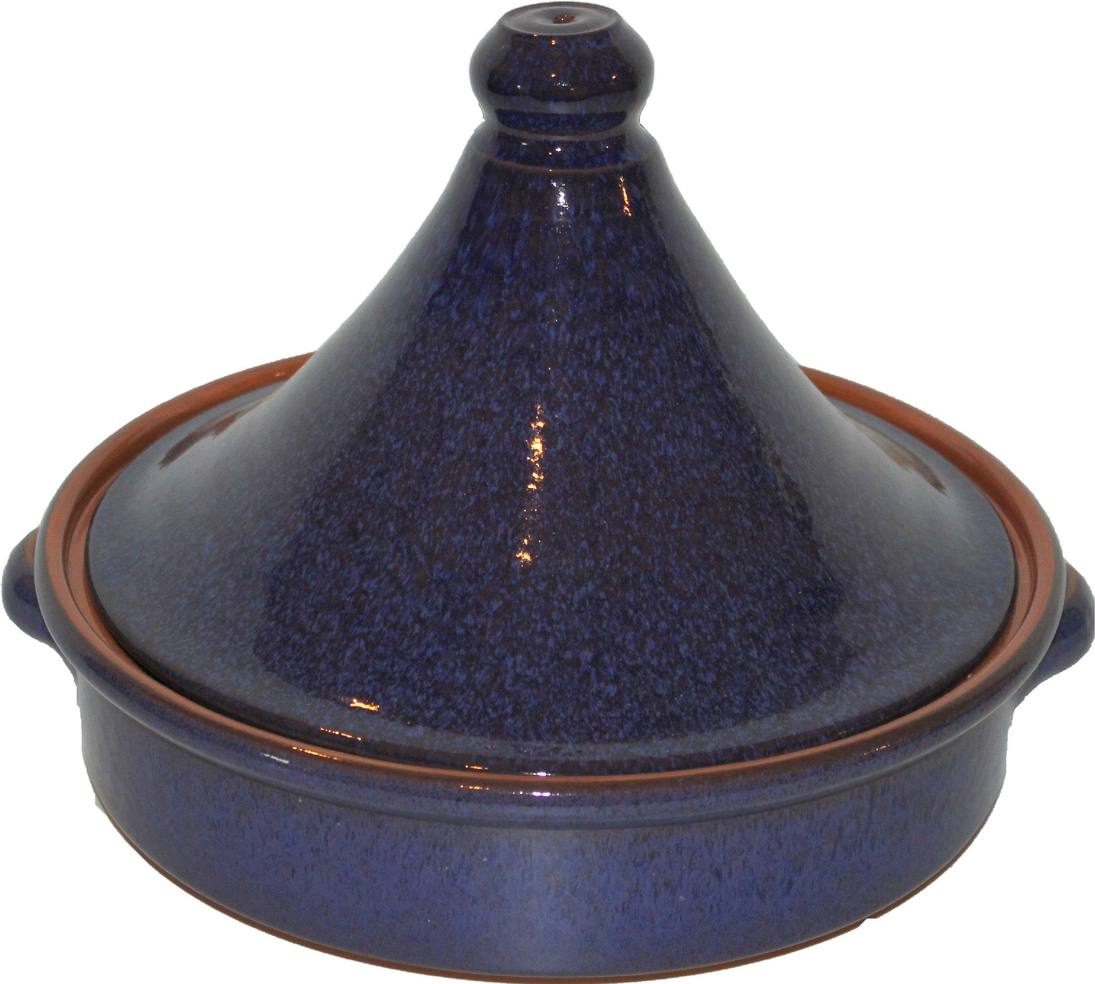 Amazing Cookware 28cm Terracotta Tagine - 'Reactive Blue' by Amazing Cookware by Amazing Cookware