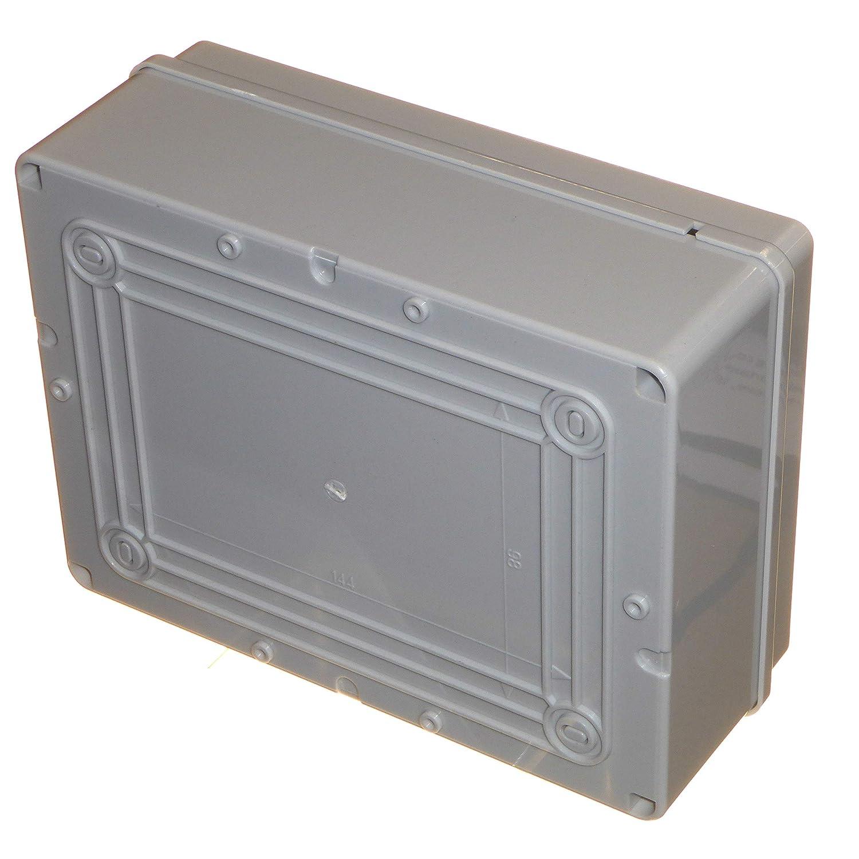 Abzweigdose 190 mm x 140 mm x 70 mm wasserdicht IP56 PVC Kunststoff anpassbar Geh/äuse Au/ßenbeleuchtung Kabel Elektrik Anschluss