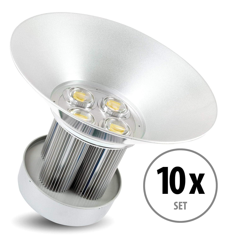 Set de 10 focos Showlite HBL-200 COB LED High Bay de 200W: Amazon.es: Iluminación