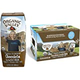 Organic Valley, Organic Milk Boxes, 1% Low Fat Chocolate Milk, 6.75 Ounces (Pack of 24)