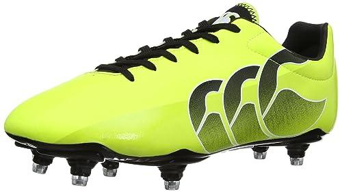 d41dda8bfdb8 Canterbury Men s Speed Club 6 Stud Rugby Boots E22314 - T05 Sulphur  Spring Black 8