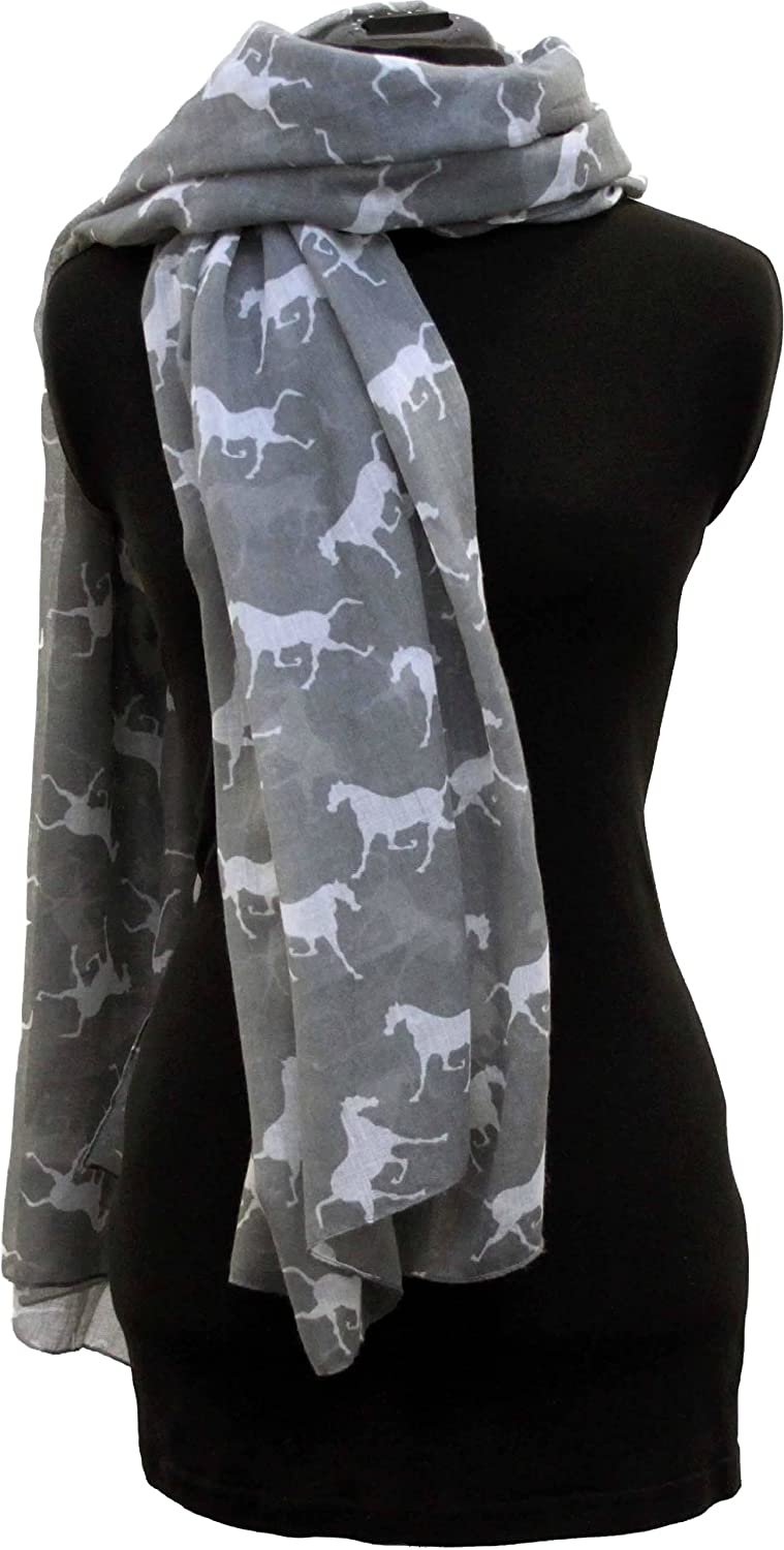Pamper Yourself Now Women's Horse Animal Print Scarves Long Scarves