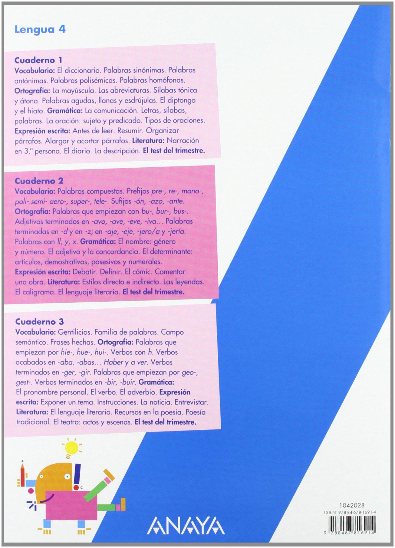 Lengua 4. Cuaderno 2.: Lorena;Martín López, Sarah Esmorís Galán: 9788467816914: Amazon.com: Books