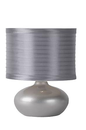Lucide 14559/81/36 Tina - Lámpara de mesa (cerámica y tela), color gris