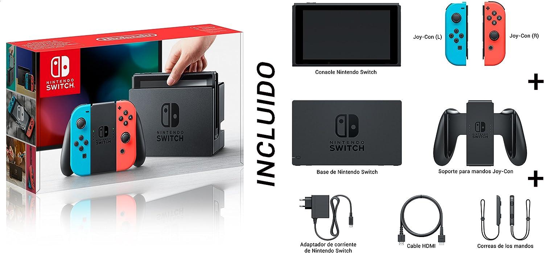 Nintendo Switch - Consola color Azul Neón/Rojo Neón + Mario Kart 8 Deluxe: Amazon.es: Videojuegos