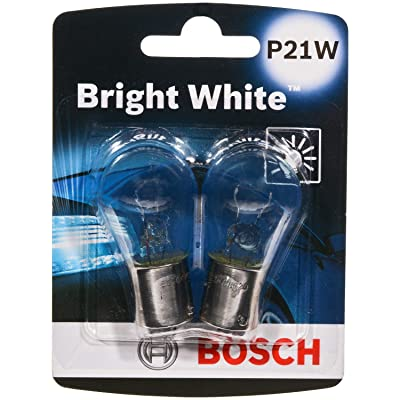 Bosch P21W Bright White Upgrade Minature Bulb, Pack of 2: Automotive