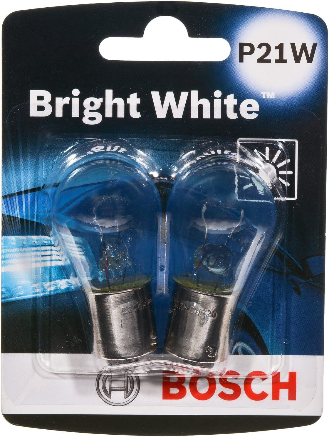 Bosch P21W Bright White Upgrade Minature Bulb, Pack of 2
