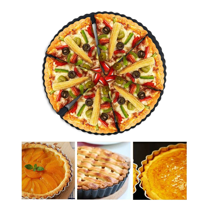 torte e stampo per quiche Round Tart quiche pan con base rimovibile Tart Pie pan 22,9/cm rivestimento antiaderente Bakeware /& Quick Release Loose Bottom quiche Tart pan
